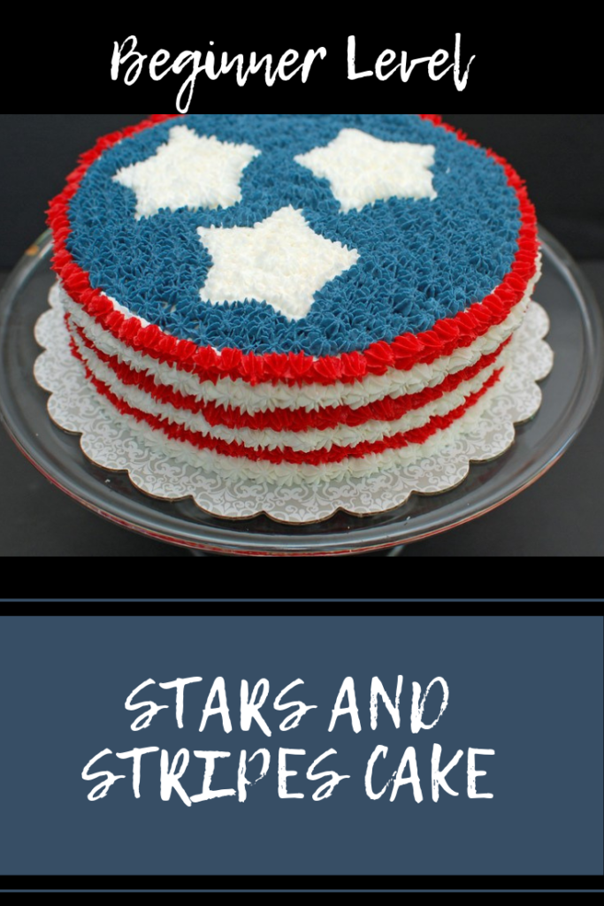 Beginner Level Stars and Stripes Cake