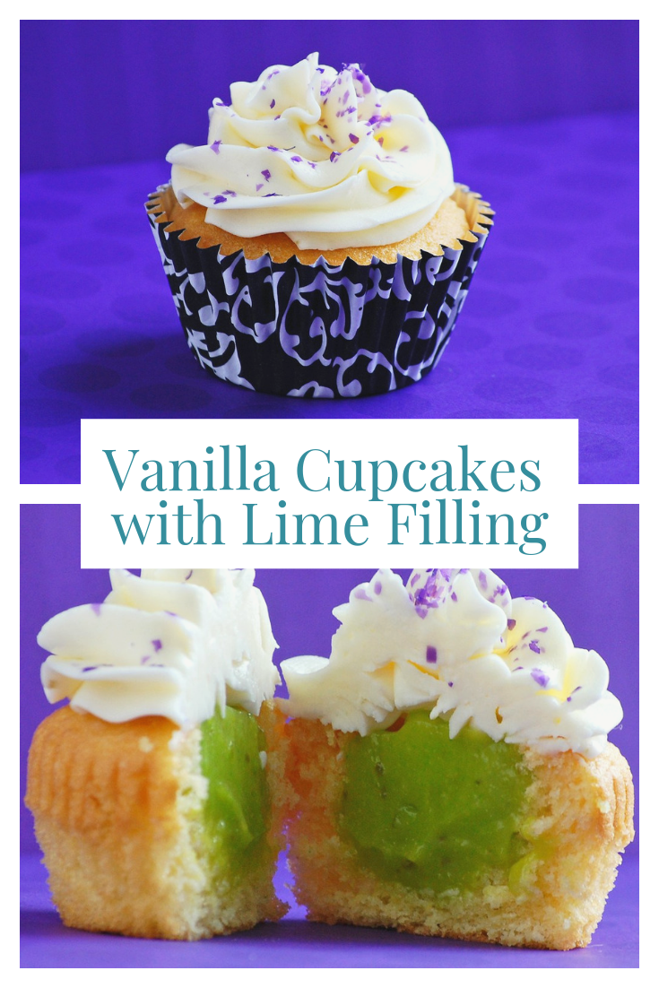 Vanilla Cupcakes with Lime Filling