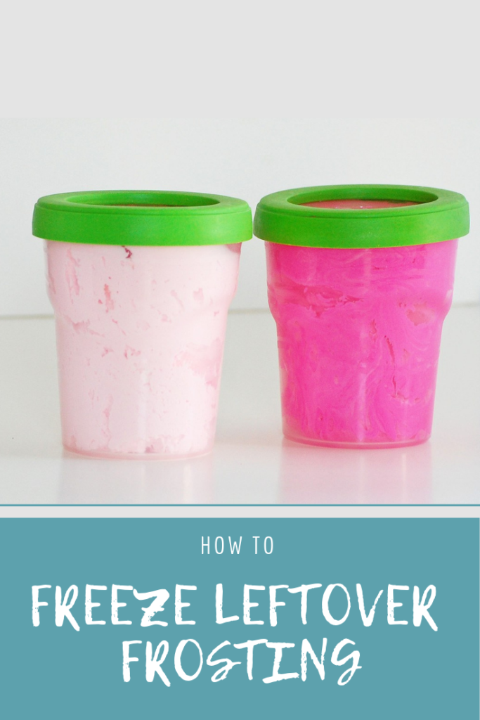 How to freeze leftover frosting