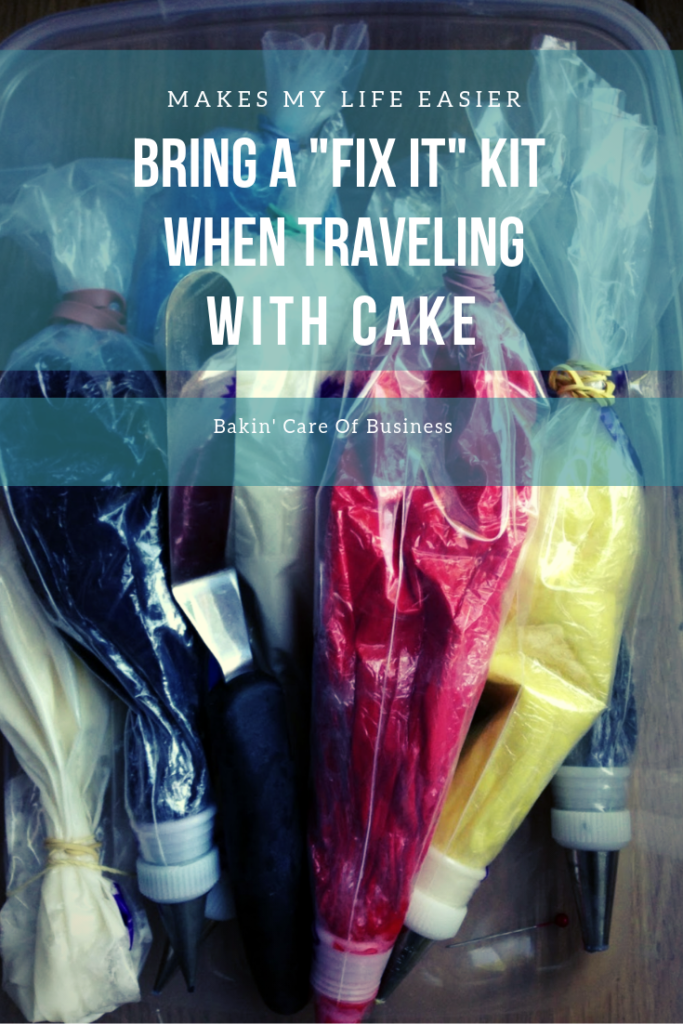 Cake Decorating Tip: Bring a Fix It Kit When Traveling With Cake