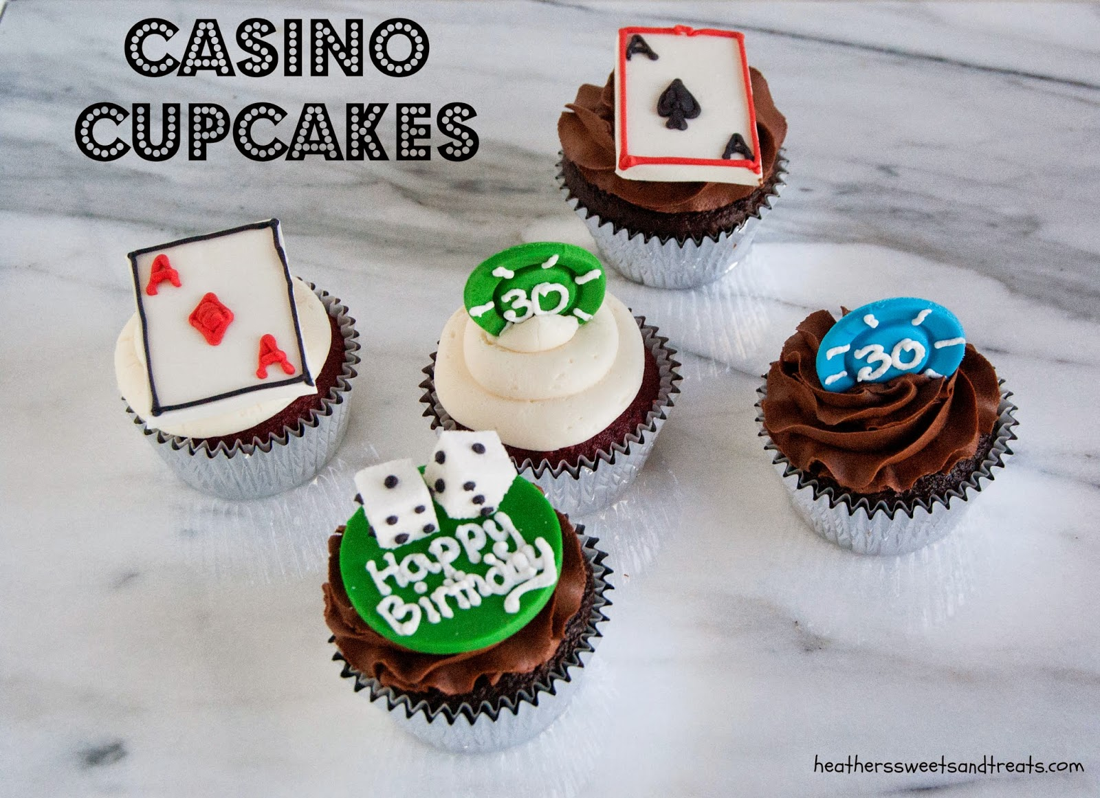 Vegas themed cupcakes