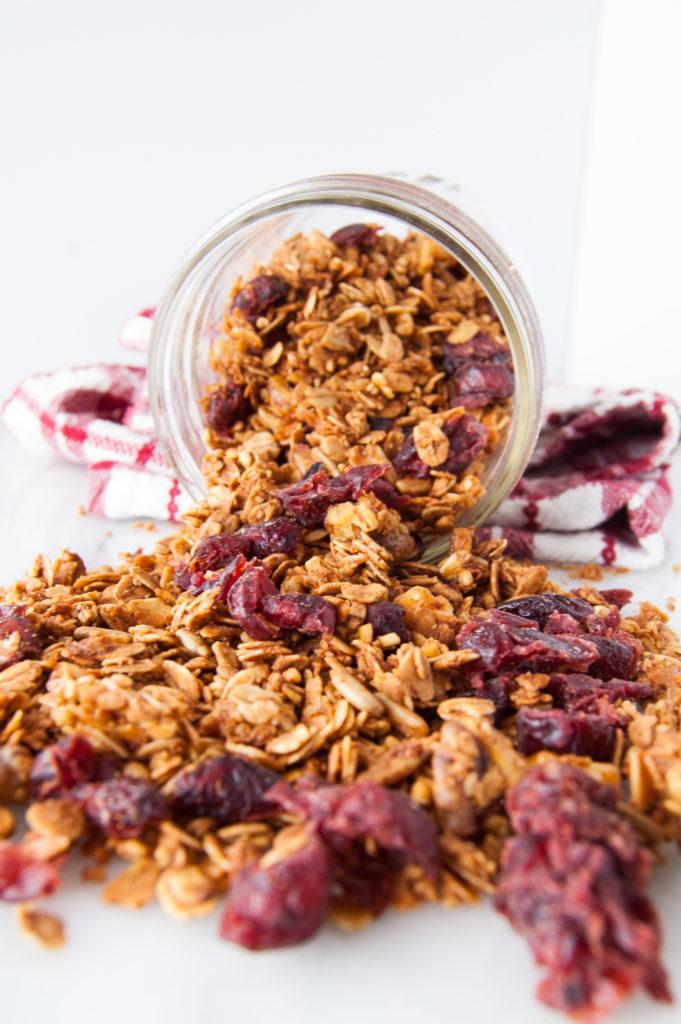 Simple, healthy granola with no  refined sugar