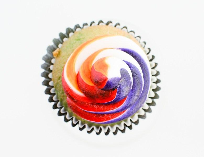 Easy Rainbow Swirl Frosting