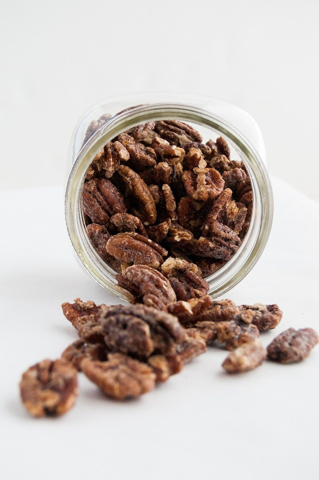 Sweet and crunchy spiced pecans