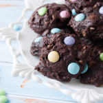 easy m&m brownie cookies