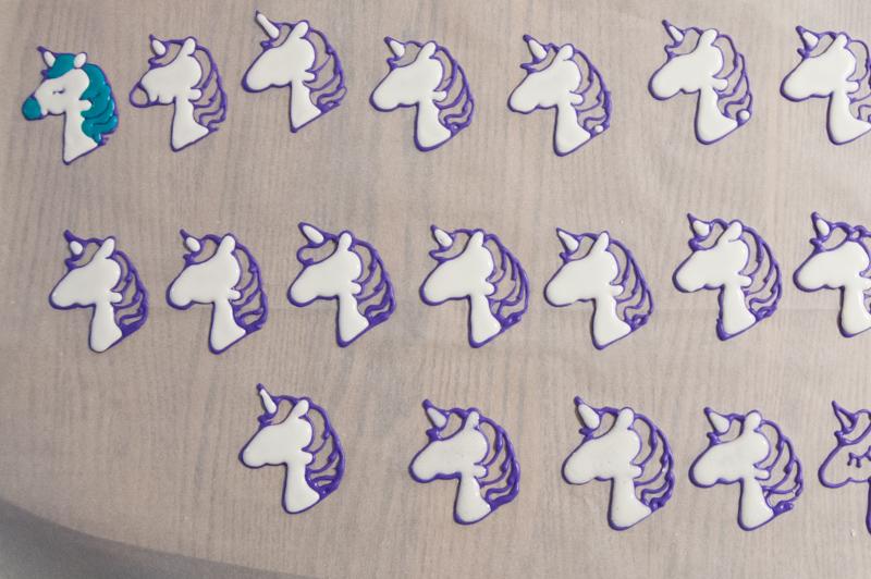 royal icing unicorns