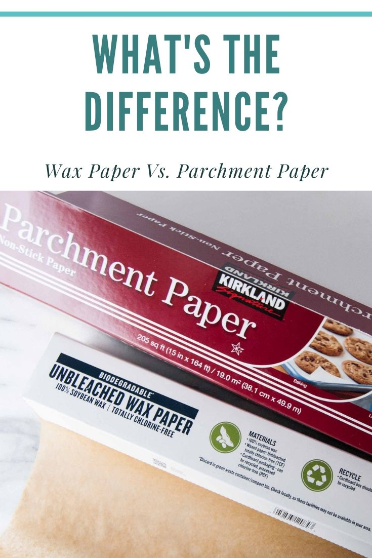 what's the difference between wax paper and parchment paper
