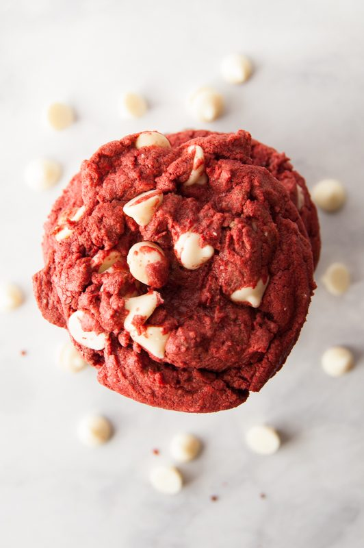 red velvet cake mix cookie