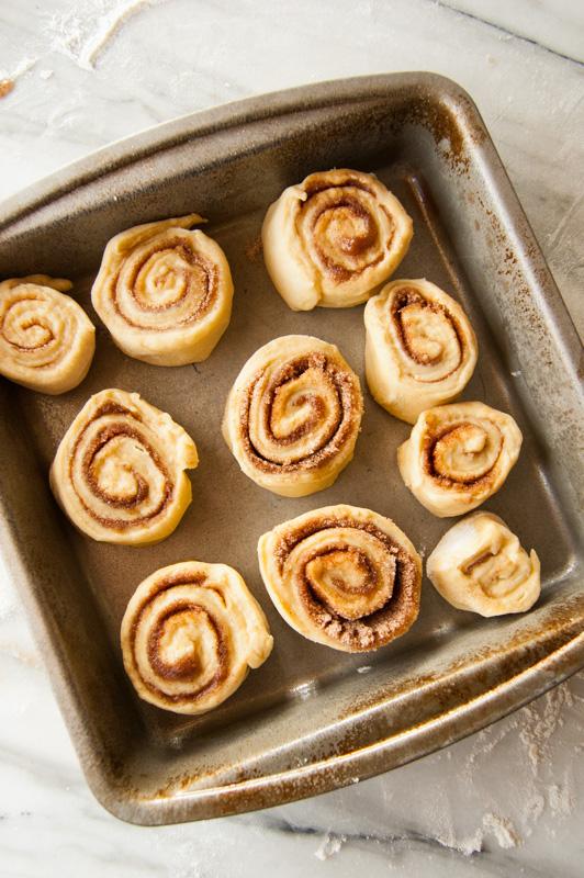 mashed potato cinnamon rolls before rising