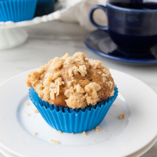 Pumpkin Banana Muffins with Crumble Top