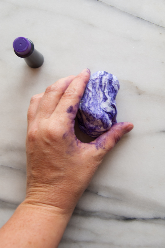 knead in the color
