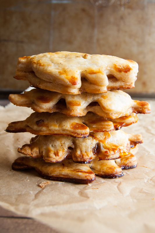 stack of apple hand pies