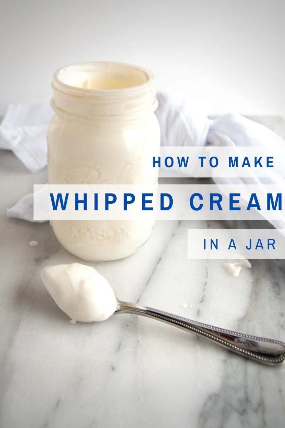 How To Make Whipped Cream In A Jar