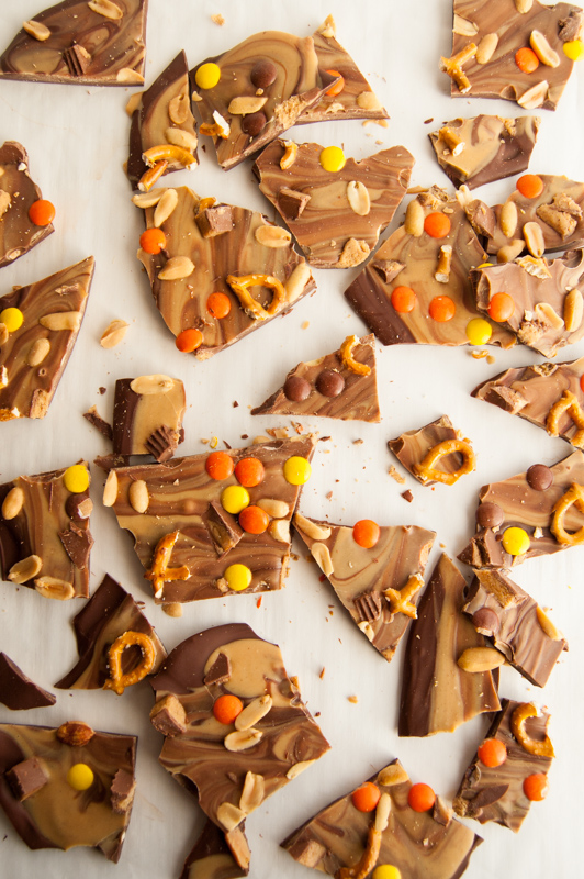 Broken peanut butter bark