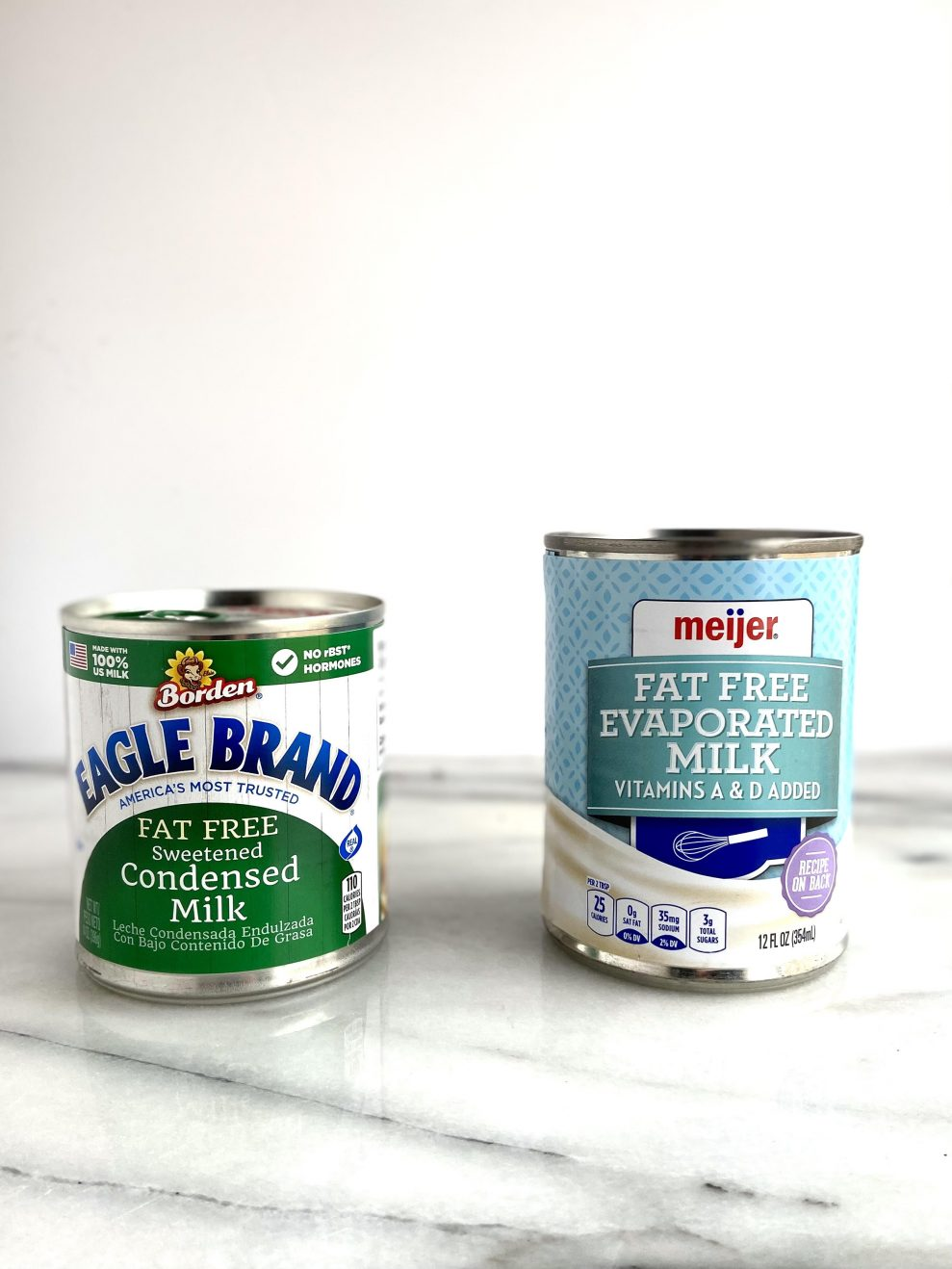 Sweetened Condensed Milk and Evaporated Milk
