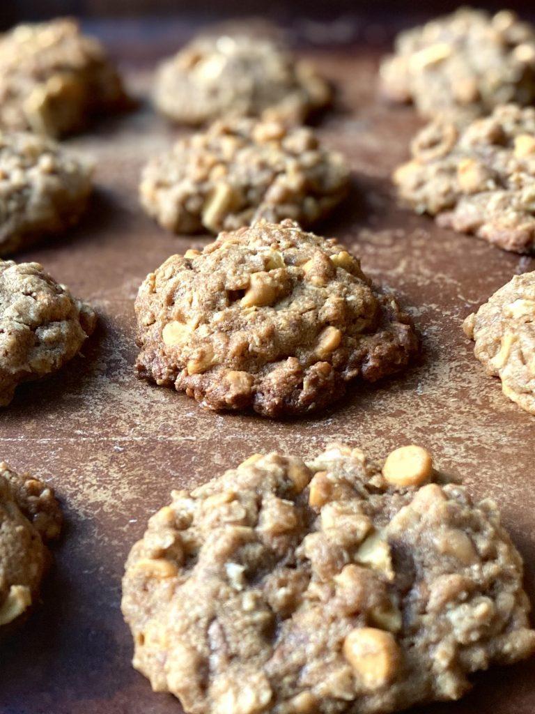 Apple butterscotch cookie pan